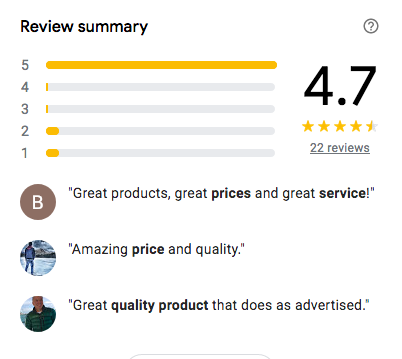 Fresh Farm reviews on Google